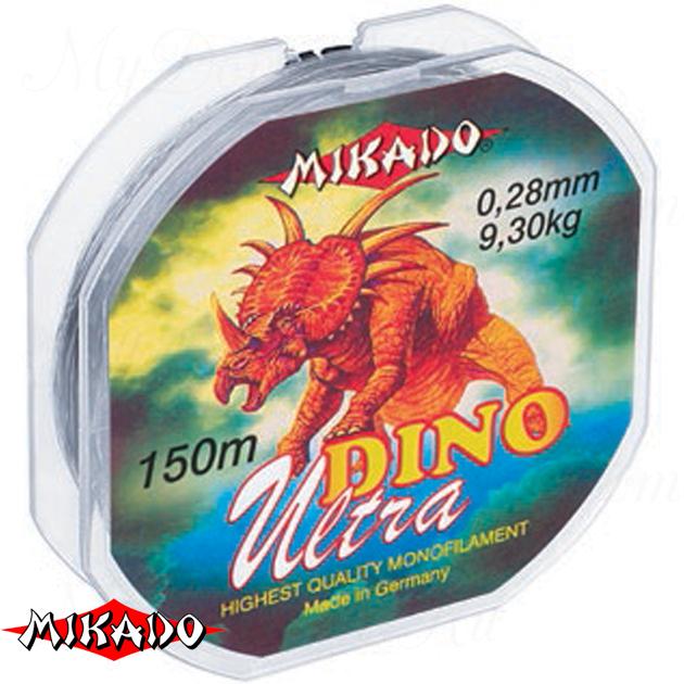 Леска мононить Mikado DINO ULTRA 0,34 (150 м) - 12.10 кг.  уп.=10 шт., шт