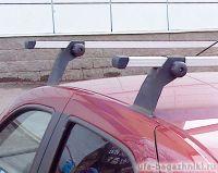 Багажник на крышу на Renault Logan (Атлант, Россия), алюминиевые дуги