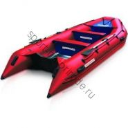 Лодка NISSAMARAN надувная, модель TORNADO 420, цвет красный (аллюм. пол) A/L
