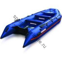 Лодка NISSAMARAN надувная, модель TORNADO 420, цвет синий (аллюм. пол) A/L
