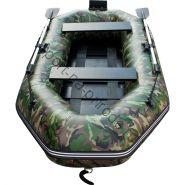 Лодка HDX надувная, модель SIRENA 240 , цвет зелёный-камуфляж, (дерев. пол, транец) S/L