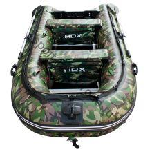 Лодка HDX надувная, модель CARBON 300, цвет зелёный-камуфляж, (дерев. пол) P/L