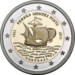 500 лет со дня рождения  Фернана Мендеса Пинто(1511-2011) 2 евро Португалия 2011 на заказ