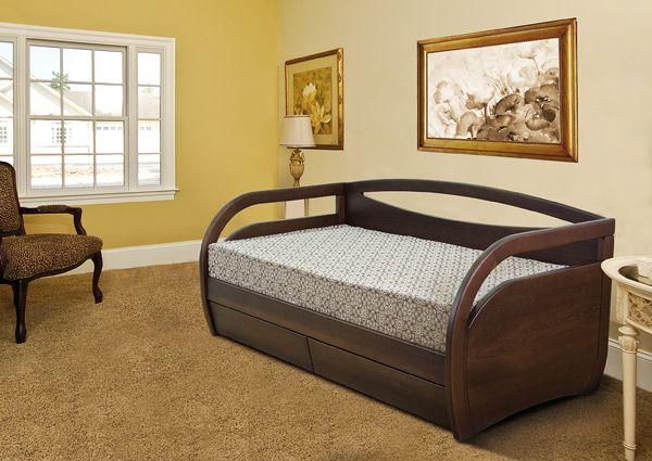 Кровать Скай без ящиков из массива бука | Диамант-М