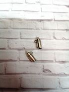 подвеска БУТЫЛОЧКА размер 17*7 мм цвет серебро