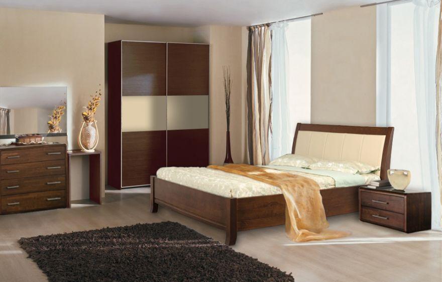 Кровать Руно-5 из массива бука  | Диамант-М