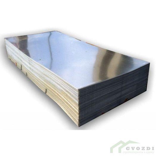 Плоский лист оцинкованный 1250 мм, длина - 2,0 метра, толщина - 0,54 мм