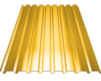 Профильный лист С-8 оцинкованный с полимерным покрытием (Профнастил С8-1150) длина 2,0 м, толщина 0,4 мм, RAL