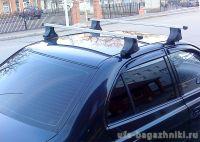 Багажник на крышу Hyundai Accent, Атлант, прямоугольные дуги