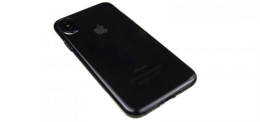 Чехол Hoco Light для iPhone X черно-прозрачный