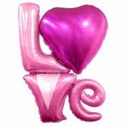 """Надпись """"Love"""", розовый голография, 41""""/ 104 см, Китай"""