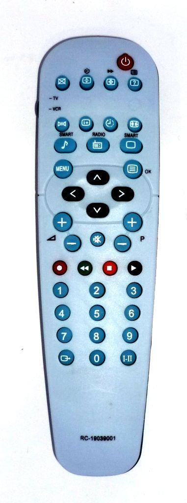 Philips RC19039001/01 (TV,VCR) (14PT2666, 15PT2967, 21PT4438, 21PT4457, 21PT5407, 21PT5408, 21PT5457, 21PT5458, 21PT5507, 21PT5606, 21PT6807, 24PW6407, 25PT4457, 25PT5007, 28PT4438, 28PT4557, 28PT5007, 28PW5407, 28PW5408, 28PW6006C, 28PW6008)