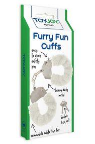 Наручники металлические с мехом Toy Joy Furry Fun Cuffs белые