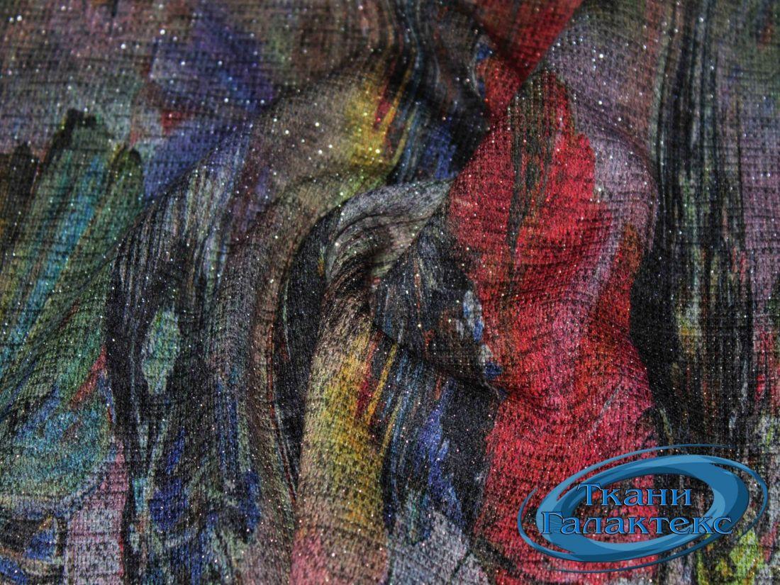 Трикотаж меланж принт с люрексом 9569/D12/C#1