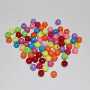 Бусины 6 мм, цвет МИКС (1уп = 100шт), Арт. БС1106
