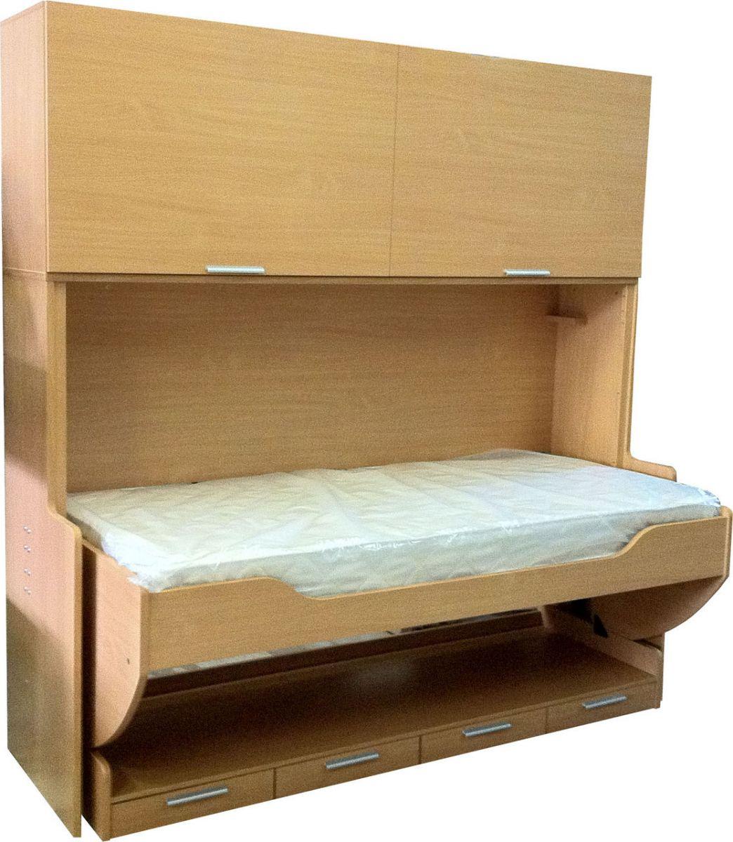 кровать стол трансформер с антресолью Piano цена купить недорого в