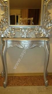 Стол-консоль Верона, серебро