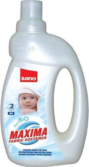 Sano Maxima Смягчитель для белья Bio 5 в 1: аромат, нейтрализация запаха, мягкость, антистатик, лёгкая глажка 2 л