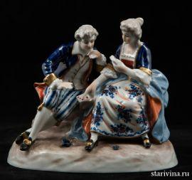 Пара играющая в карты, Unterweissbach, Германия, 1962-90 гг
