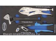 ACK-E38309 Набор ручные тиски, переставные клещи, разводной ключ EVA Licota, 3 предмета