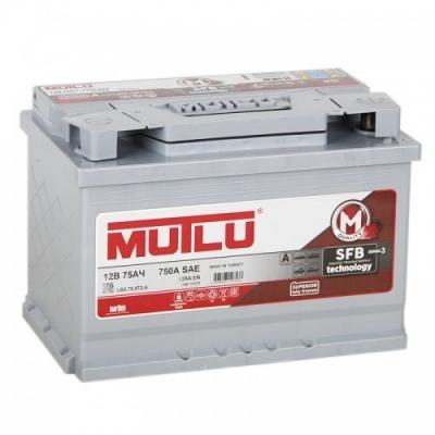 Автомобильный аккумулятор АКБ MUTLU (Мутлу)  LB3.75.072.A SMF 57572 75Ач О.П.