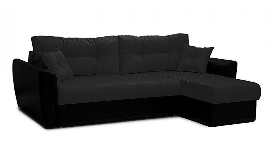 """Угловой диван """"Амстердам"""" черный"""