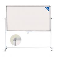 Доска магнитно-маркерная BRAUBERG 2-сторонн, 90×120 см, на стенде, улучшн. алюм. рамка 231718