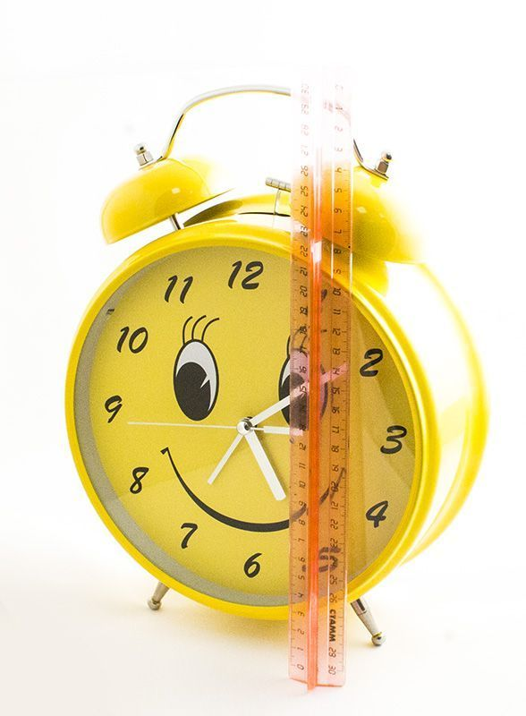 Часы Будильник Гигант Смайл