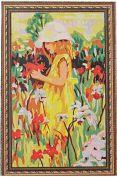"""Раскраска по номерам """"Девочка в цветах"""""""