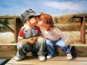"""Раскраска по номерам """"Первый поцелуй"""""""