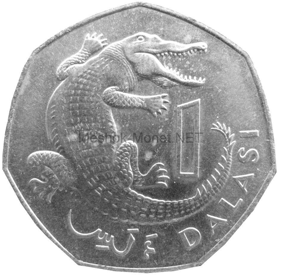 Гамбия 1 даласи 1987 г.