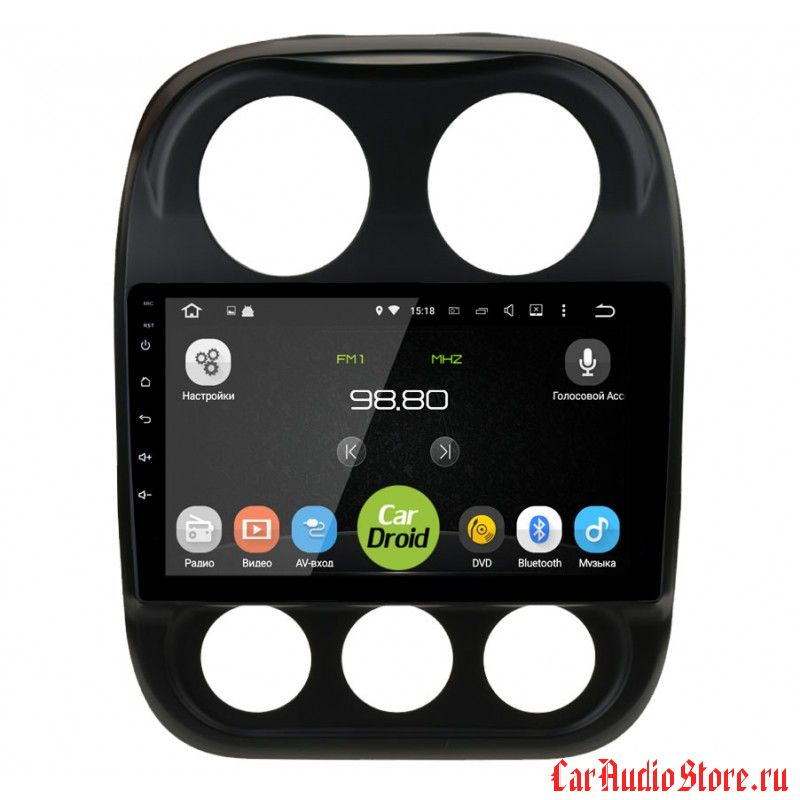 CarDroid RD-2203F для Jeep Compas (Android 6.0)