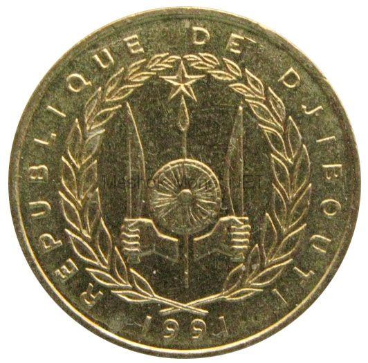 Джибути 10 франков 2016 г.