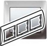 Рамка Legrand Galea Life 3 поста гориз. Chrome (арт.771933)