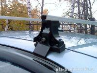Багажник на крышу Chevrolet Lanos, Атлант. Прямоугольные дуги.