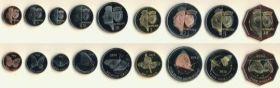 Набор монет. Остров Бонайре,(Малые Антилы) 2012