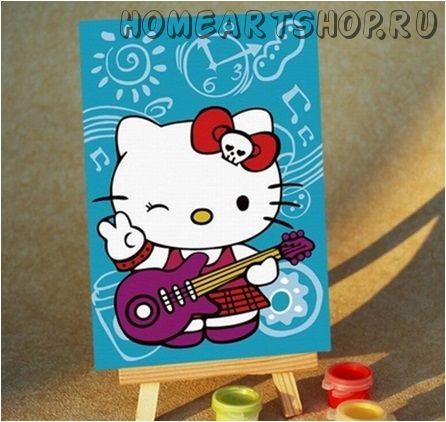 """Картина по номерам """"Hello Kitty. Хелло Китти. Музыкальный привет"""""""