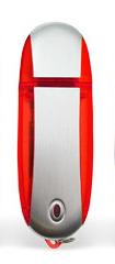 64GB USB-флэш корпус для флешки UsbSouvenir U204, Красный  серебро