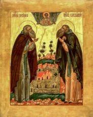 Зосима, Савватий Соловецкие (икона на дереве)