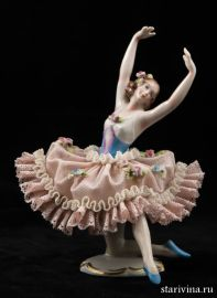 Балерина-кружевница, Sitzendorf, Германия, до 1940 гг.