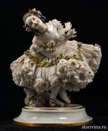 Прима-балерина, кружевница, Дрезден, Германия, кон. 19 в