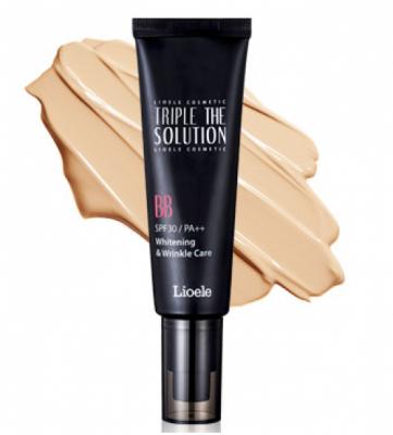 Корейский ББ крем с тройной функцией Lioele Triple the Solution BB Cream, SPF 30 PA++