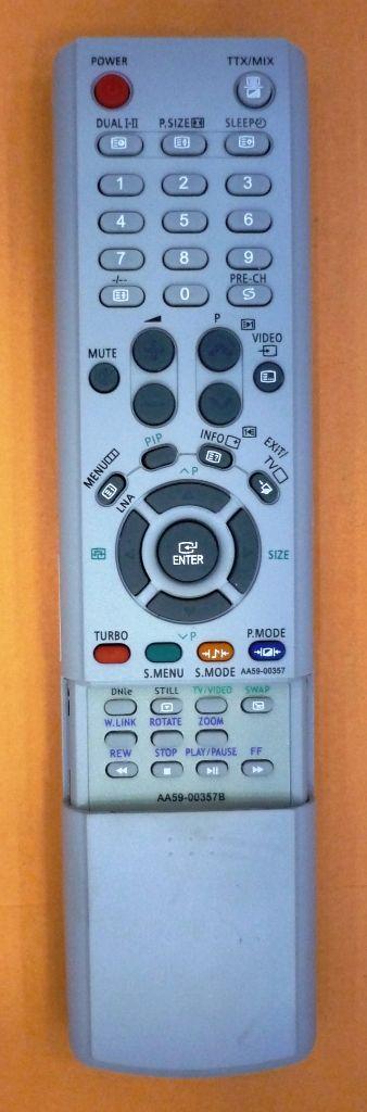 Samsung AA59-00357B (TV) (CS-25M20 SSQ, CS-25M21 SSQ, CS-25M6 SSQ, CS-29A11 SSQ, CS-29M21 SSQ, CS-29M6 SSQ, CS-29Z4 SSQ, CS-34A11 SSQ, CS-34Z4 SSQ, WS-32A11 SSQ, WS-32Z30HEQ, WS-32Z4 SSQ)