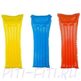 Summer Escapes. Матрасы прозрачные надувные в ассортименте (жёлтый, оранжевый, синий), 69х184 см