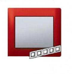 Рамка Legrand Galea Life 5 постов гориз. Magic Red (арт.771905)