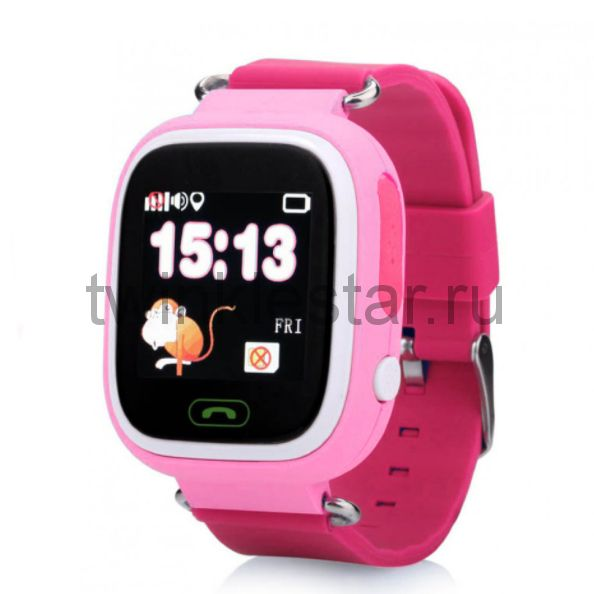Умные детские часы с GPS Smart Baby Watch Q80 розовый