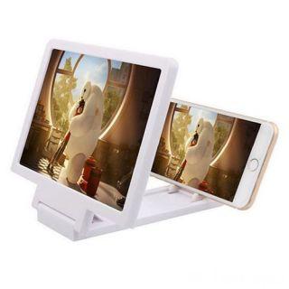 3D увеличитель экрана телефона, Цвет: Белый