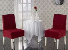 "Чехлы на стулья ""KARNA"" MILANO (бордовый)  Арт.2911-3"