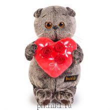 Басик с красным сердечком 25 см