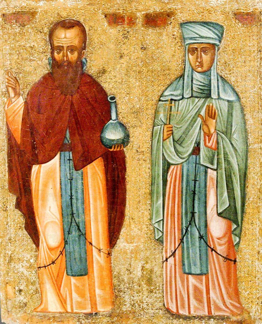 Икона Андроник Антиохийский и Афанасия (копия старинной)